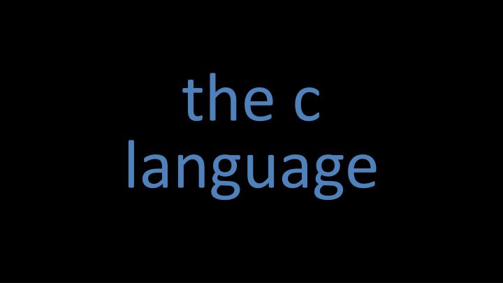 the c
