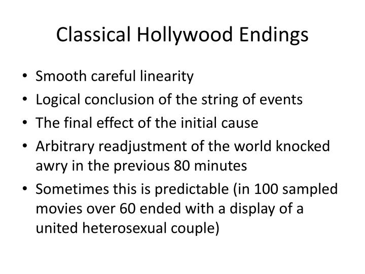 Classical Hollywood Endings