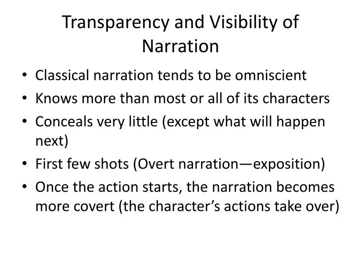 Transparency and Visibility of Narration