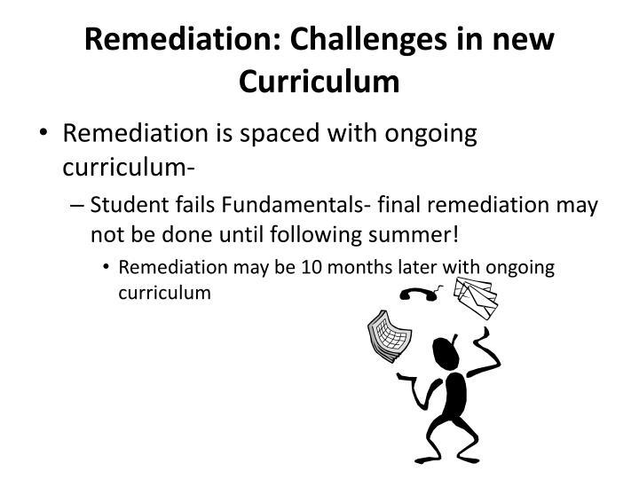 Remediation: Challenges in new Curriculum