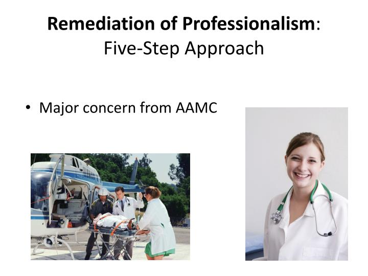 Remediation of Professionalism