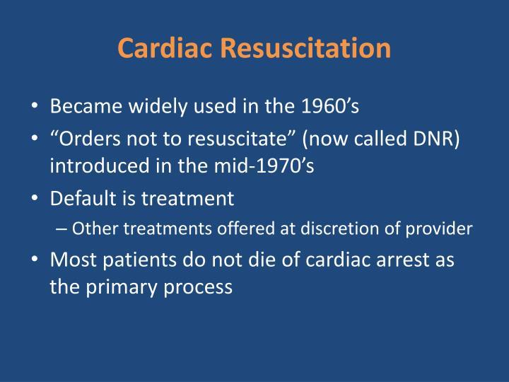Cardiac Resuscitation