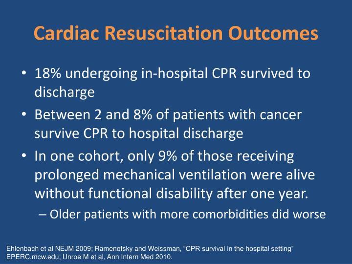 Cardiac Resuscitation Outcomes