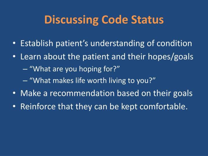 Discussing Code Status
