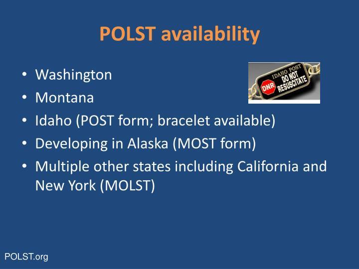 POLST availability