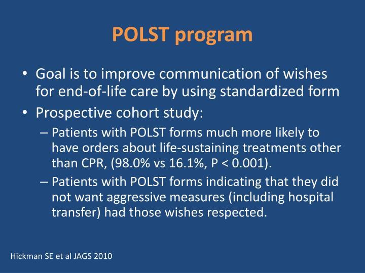 POLST program