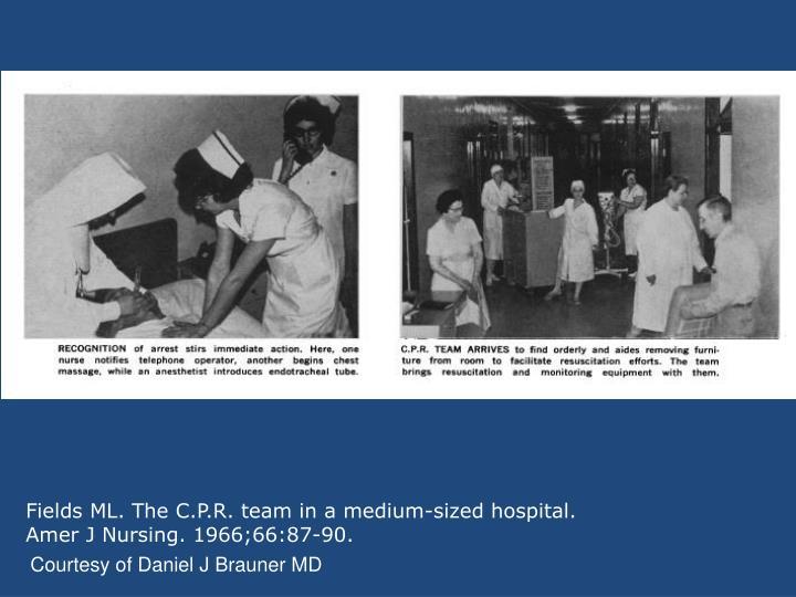 Fields ML. The C.P.R. team in a medium-sized hospital.