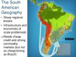 the south american geography