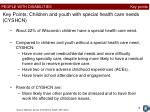 key points children and youth with special health care needs cyshcn