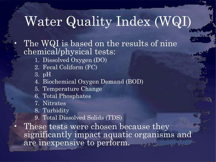 Water quality index wqi