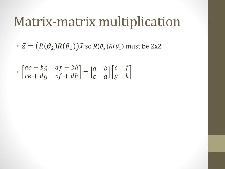 Matrix-matrix multiplication