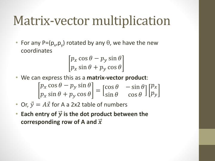 Matrix-vector multiplication