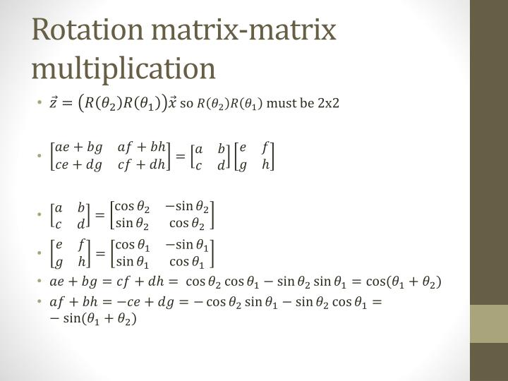 Rotation matrix-matrix multiplication