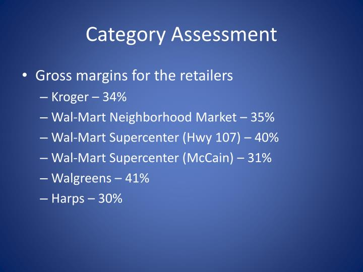 Category Assessment
