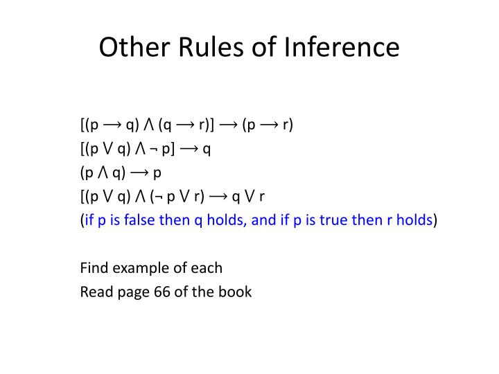 Other Rules of Inference