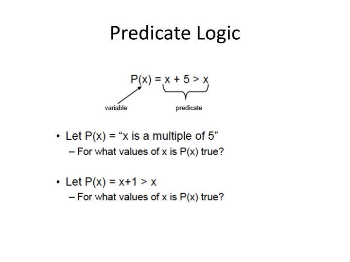 Predicate Logic