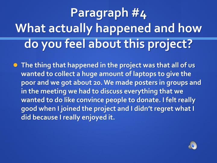 Paragraph #4