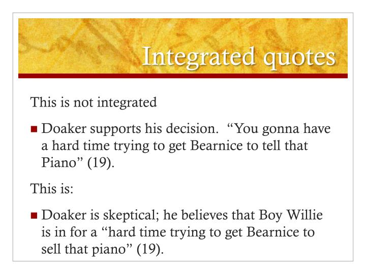 Integrated quotes