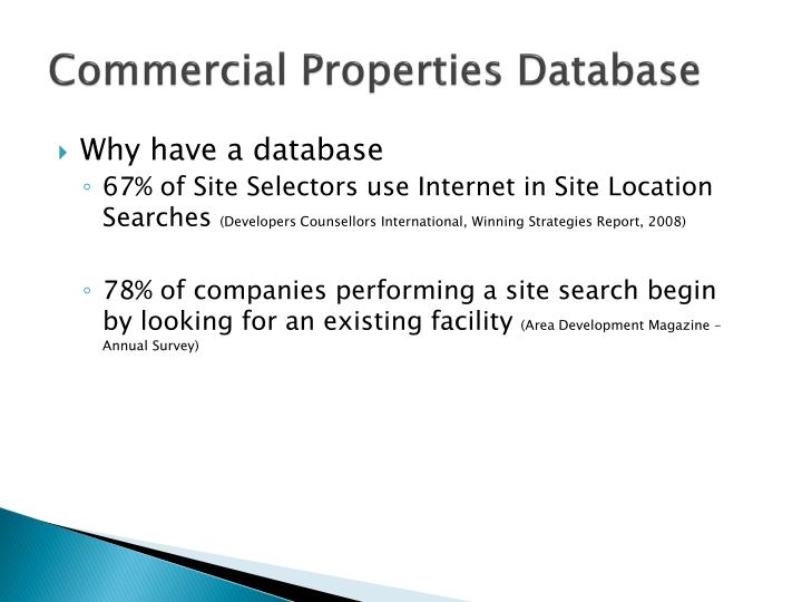 Commercial Properties Database