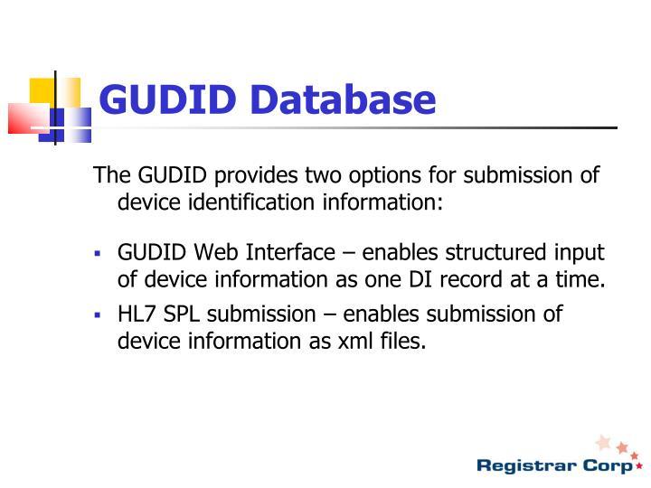 GUDID Database