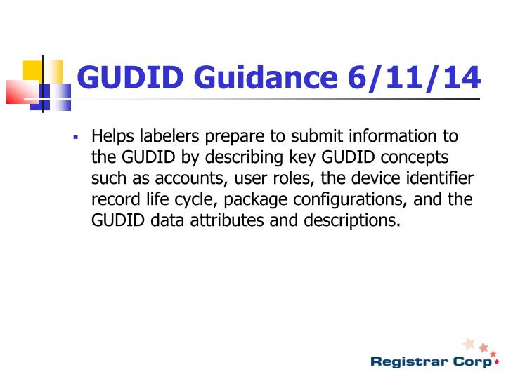 GUDID Guidance 6/11/14