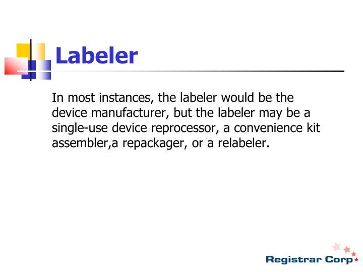 Labeler