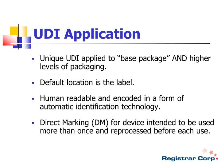 UDI Application