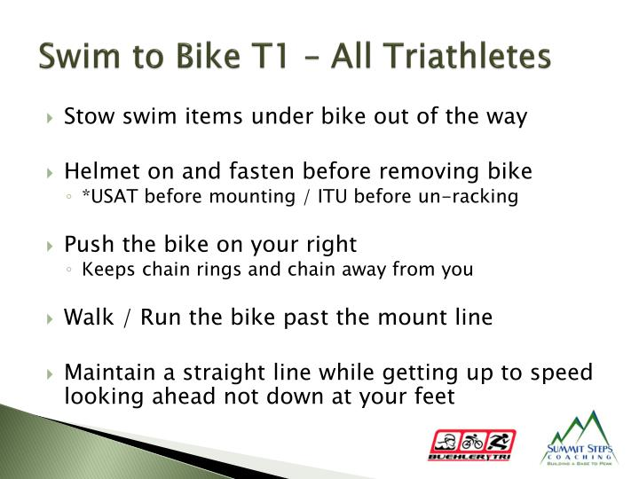 Swim to Bike T1 – All Triathletes