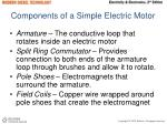 components of a simple electric motor