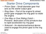 starter drive components