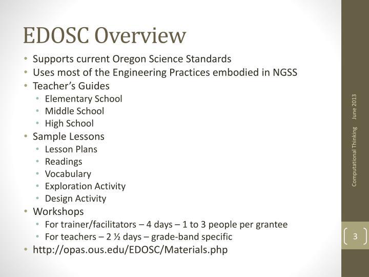 EDOSC Overview