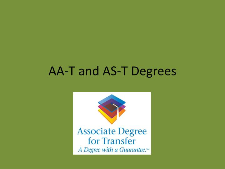 Aa t and as t degrees