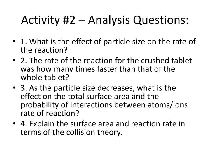 Activity #2 – Analysis Questions: