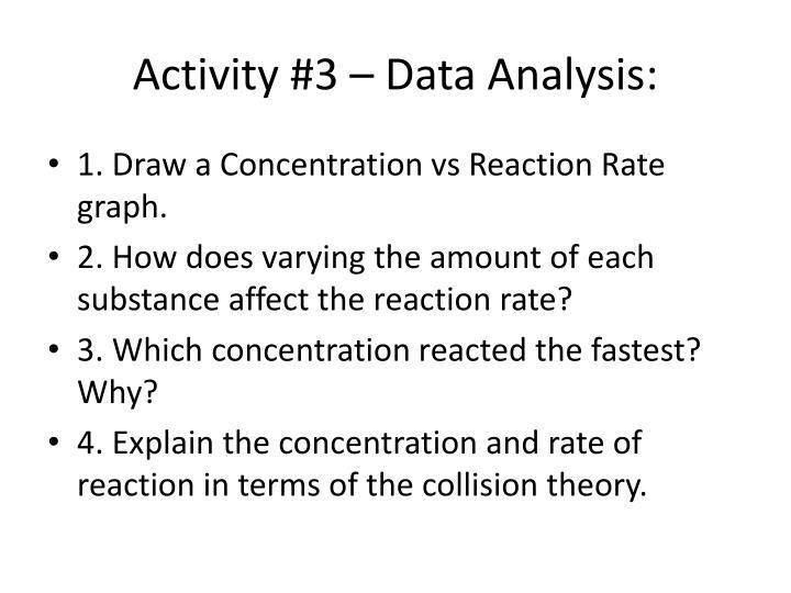 Activity #3 – Data Analysis:
