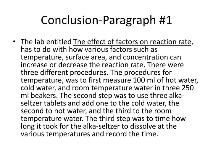 Conclusion-Paragraph #1