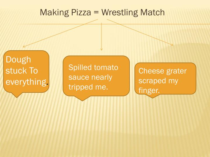 Making Pizza = Wrestling Match