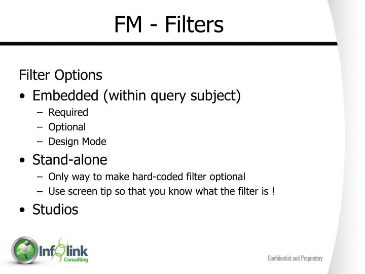 FM - Filters