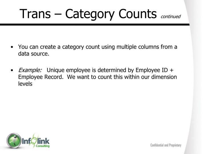 Trans – Category Counts