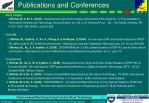 publications and conferences