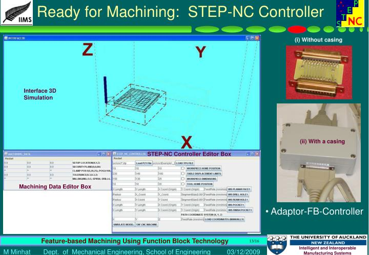 Ready for Machining:  STEP-NC Controller