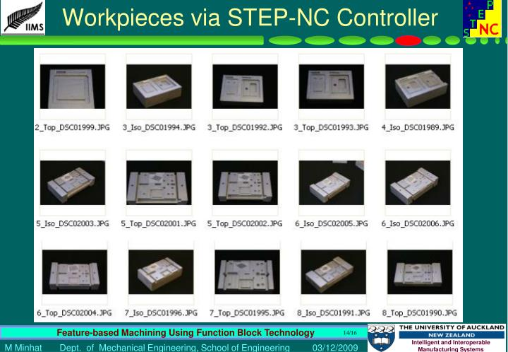 Workpieces via STEP-NC Controller