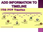 add information to timeline