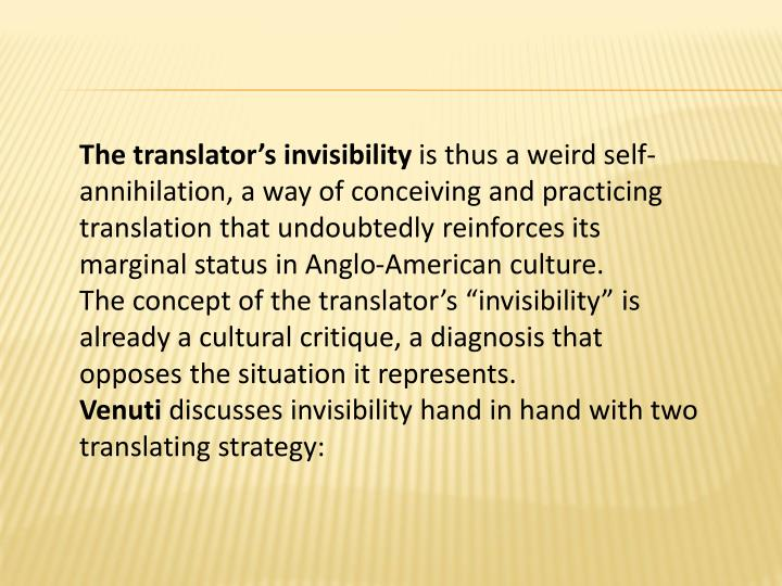 The translator's invisibility
