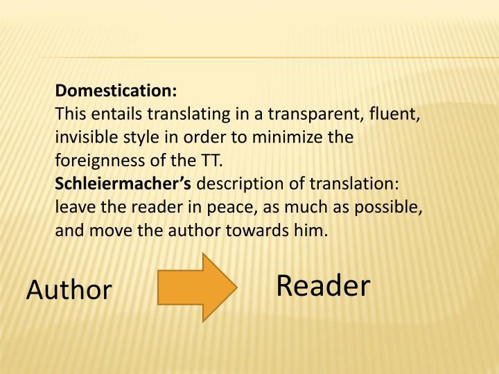 Domestication: