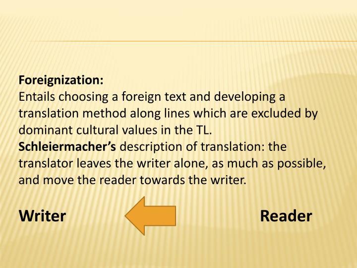 Foreignization: