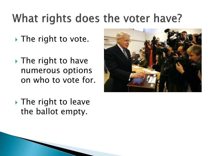 What rights does the voter have?