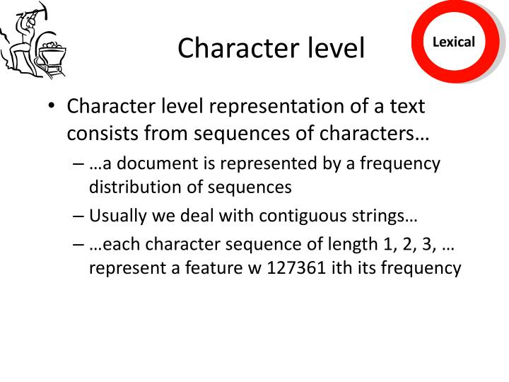 Character level