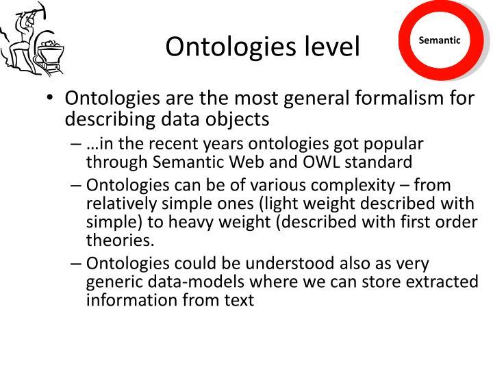 Ontologies level