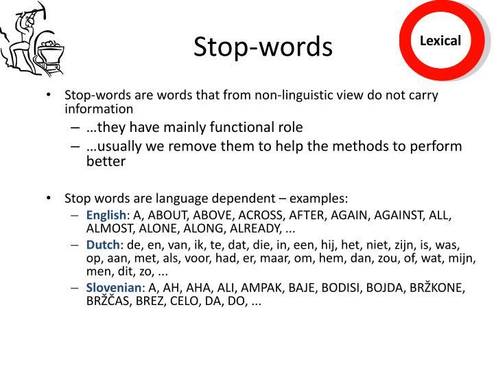 Stop-words