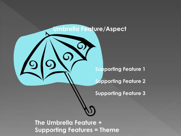Umbrella Feature/Aspect